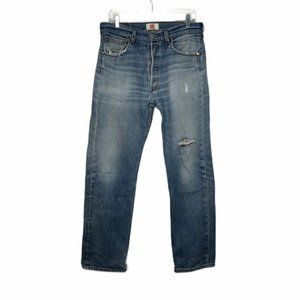 👖Levis 501 Straight Leg Distressed Size 34x34